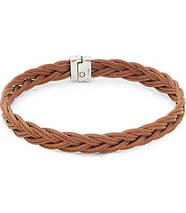 stainless steel braided bangle bracelet