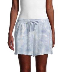olive & oak women's tie-dye drawstring shorts - blue tie dye - size xs