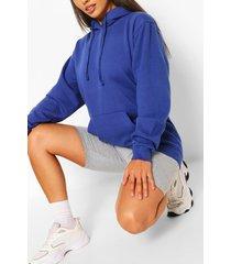 basic blauwe hoodie voor korte maten, blauw