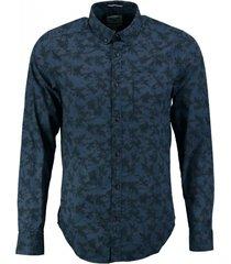 garcia blauw comfort stretch overhemd slim fit valt kleiner