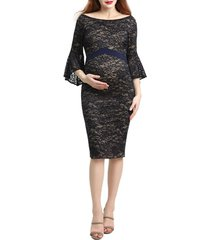 women's kimi and kai lena maternity body-con dress, size x-small - blue