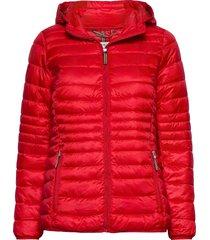 jackets outdoor woven gevoerde lange jas rood esprit casual