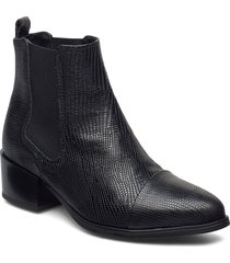 parker lizard shoes boots ankle boots ankle boot - heel svart pavement