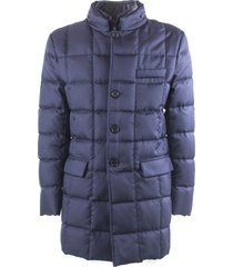 fay blue double front down coat