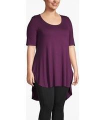 lane bryant women's active high-low tunic tee 14/16 potent purple