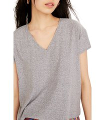 women's madewell skyline v-neck tee, size x-large - grey