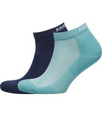 skare sock 2pk footies träningssockor/ankle socks blå kari traa