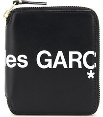 comme des garçons wallet mini zip-around huge logo wallet