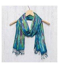 silk scarf, 'enchanting love' (thailand)