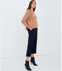 motivi pantaloni cropped con risvolto al fondo donna blu