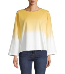 sundays women's olley ombre top - sunflower ombre - size 2 (m)
