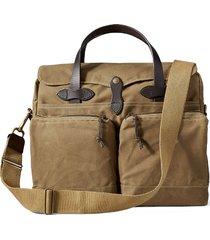 men's filson '24 hour' tin cloth briefcase - beige