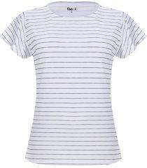 camiseta mujer rayas delgadas color verde, talla xs