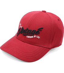 gorra rojo-negro-blanco colore