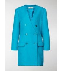 balenciaga double-breasted blazer dress