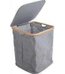kosz na pranie materiałowy szary