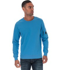 mens light fleece lens crew sweatshirt