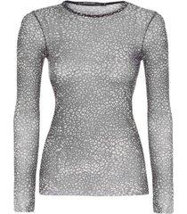 blusa malha segunda pele shoulder - animal print