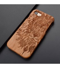 for iphone 6s plus natural wooden wood lion tatoo phone case cover