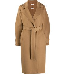 p.a.r.o.s.h. oversized belted wool coat - neutrals