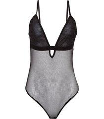 body john john net underwear tule preto feminino (preto, gg)