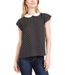 cece collared polka dot top