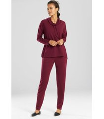 n-vious pullover top, women's, purple, size xs, n natori