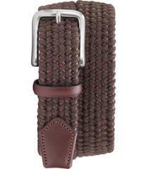 men's trask falcon woven belt, size 32 - brown italian woven
