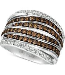 le vian chocolatier diamond multi-row statement ring (1-1/4 ct. t.w.) in 14k white gold