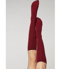 calzedonia long socks with cashmere woman red size 39-41