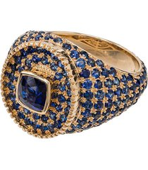 o thongthai 14kt gold and sapphire signet ring