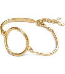 lucky brand gold-tone circle bangle bracelet