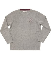 brunello cucinelli wool and cashmere sweater with badge