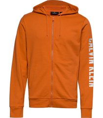 full zip hooded jacket hoodie orange calvin klein performance
