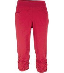 pantaloni capri con arricciature (rosso) - bpc bonprix collection