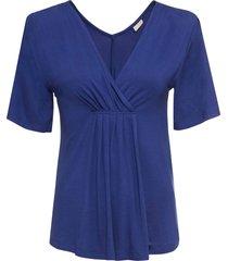 maglia scollata (blu) - bodyflirt boutique