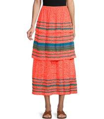 pitusa women's peruvian skirt cover-up - coral - size petite (xxs-xs-s)