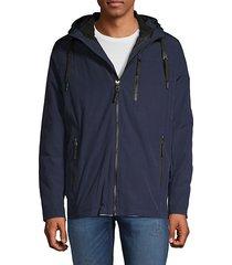 convertible hooded zip jacket