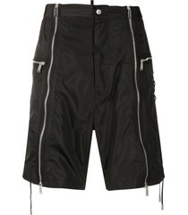 dsquared2 lace-up detail bermuda shorts - black