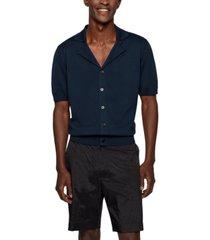boss men's short-sleeved cardigan