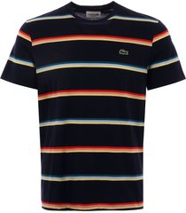 lacoste triple stripe t-shirt - navy th4444-qrn
