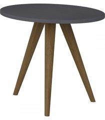 mesa de canto redonda 1005 retro espresso - bentec