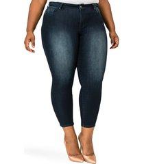 plus size women's poetic justice geneva crop skinny jeans