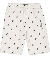 kangol men's allover print shorts