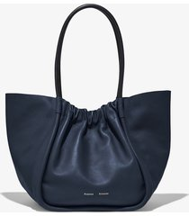proenza schouler xl ruched tote dark navy/blue one size