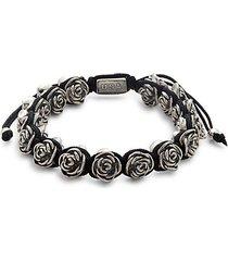 rose & macrame bracelet