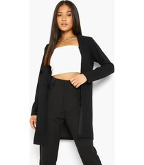 petite long line blazer, black