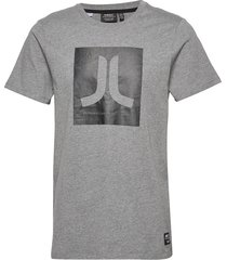 box icon t-shirt t-shirts short-sleeved grå wesc