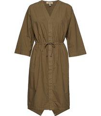 parka dress jurk knielengte groen whyred