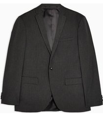 mens grey charcoal gray slim fit single breasted blazer with notch lapels